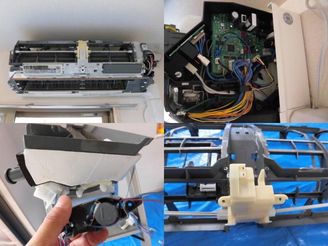 三菱エアコンMSZ-HW252-wクリーニング