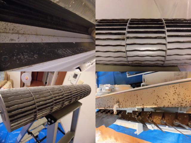 日立エアコンRAS-X40E2分解洗浄