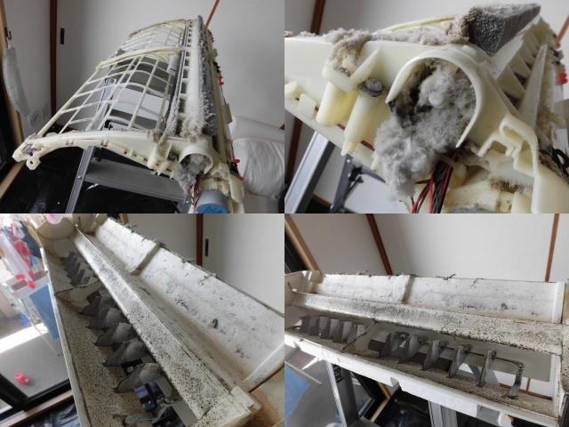 シャープお掃除機能付きエアコンAY-B56SX-Wクリーニング