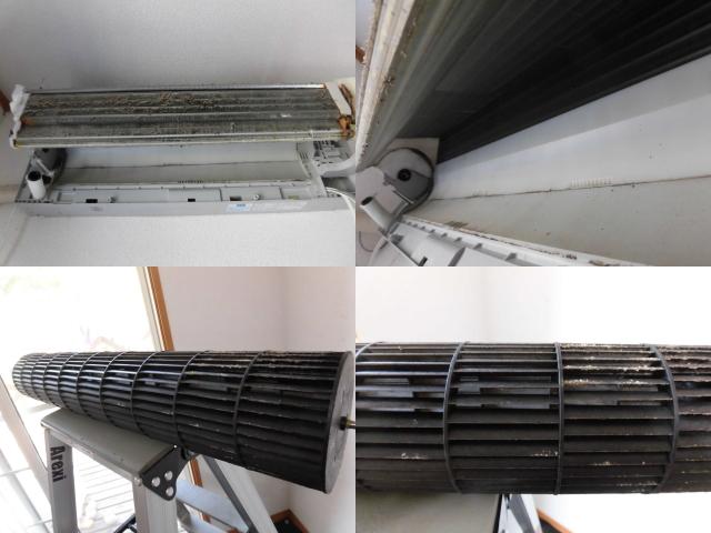 シャープお掃除エアコンAY-D63SX-Wクリーニング